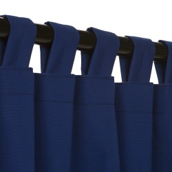 True Blue Sunbrella Outdoor Curtain with Tabs