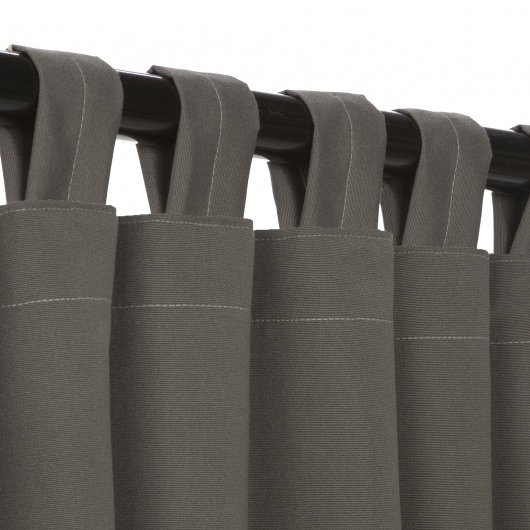 Charcoal Sunbrella Outdoor Curtain with Tabs