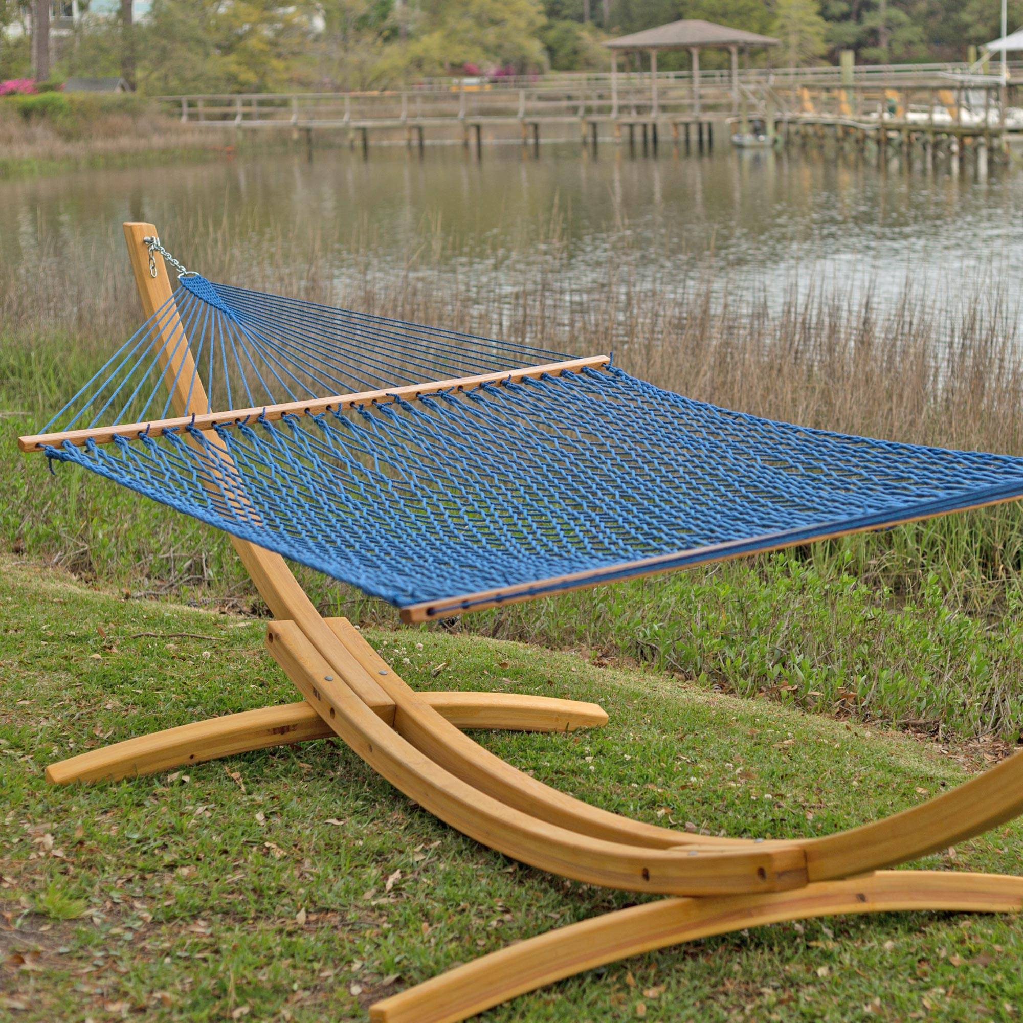 Medium image of presidential original duracord rope hammock   coastal blue