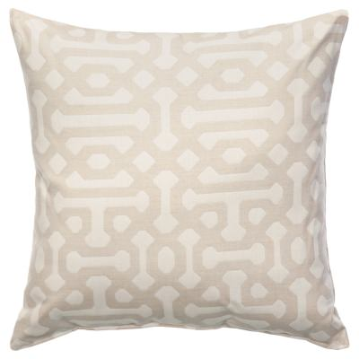Fretwork Flax Sunbrella Outdoor Throw Pillow