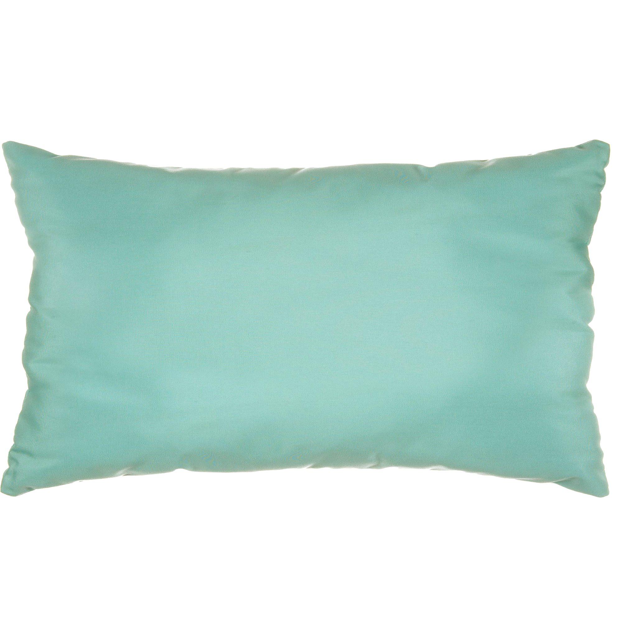 Sunbrella Outdoor Decorative Pillows : Glacier Sunbrella Outdoor Throw Pillow
