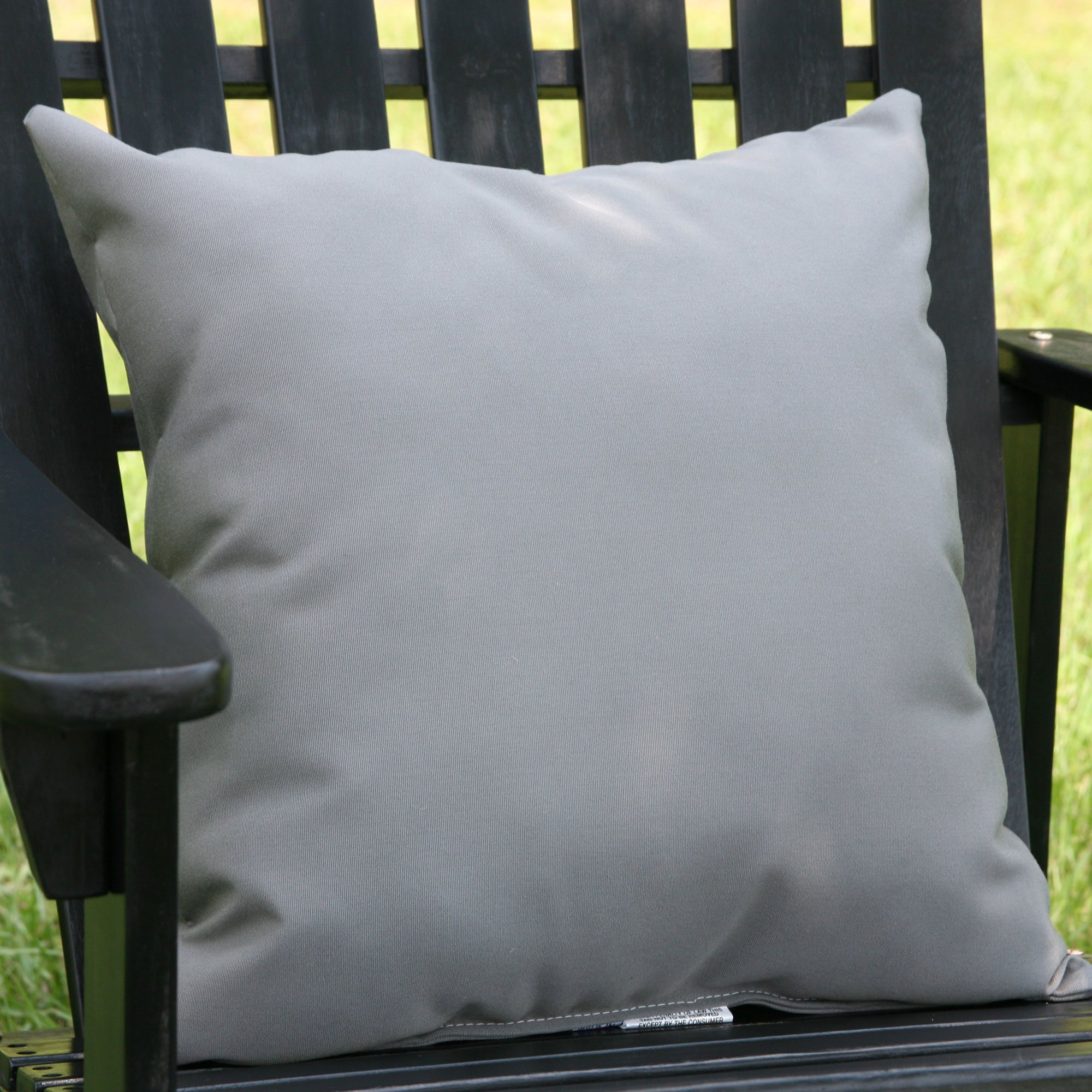 charcoal gray sunbrella outdoor throw pillow - Sunbrella Pillows