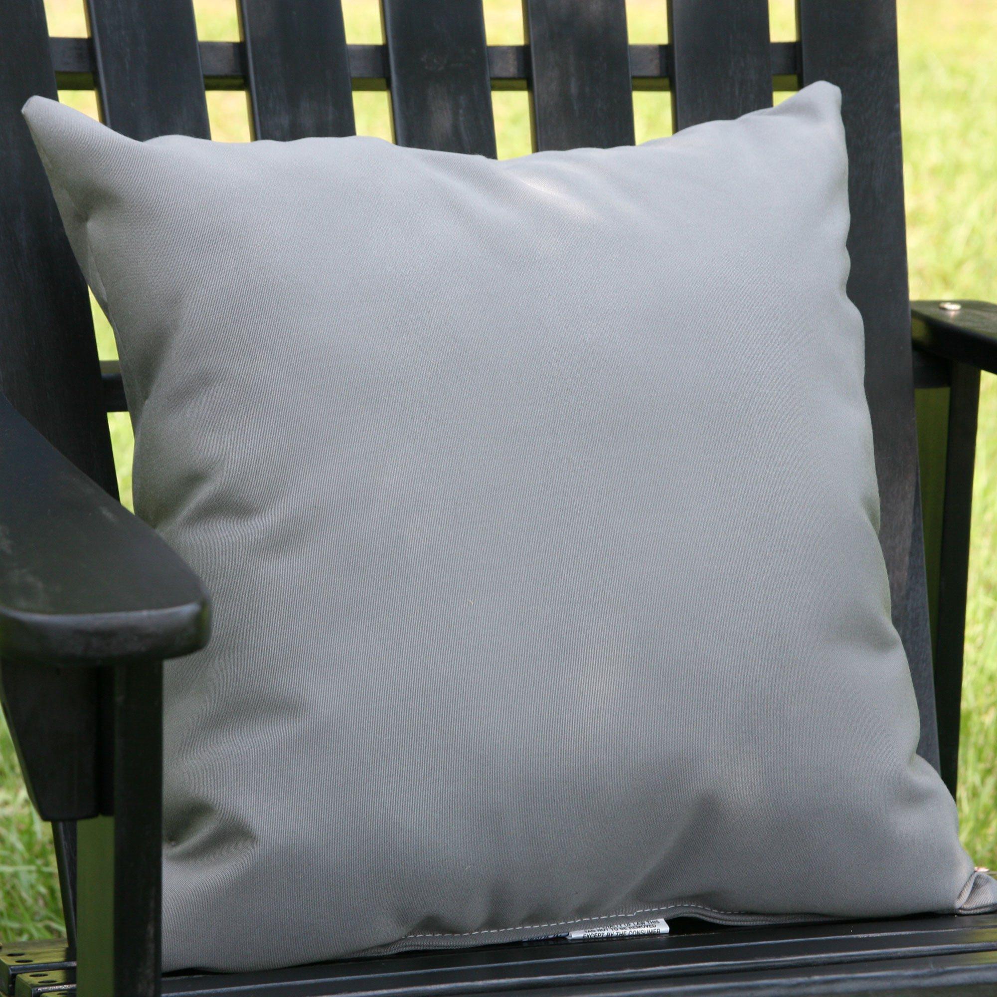 charcoal gray sunbrella outdoor throw pillow - Grey Throw Pillows