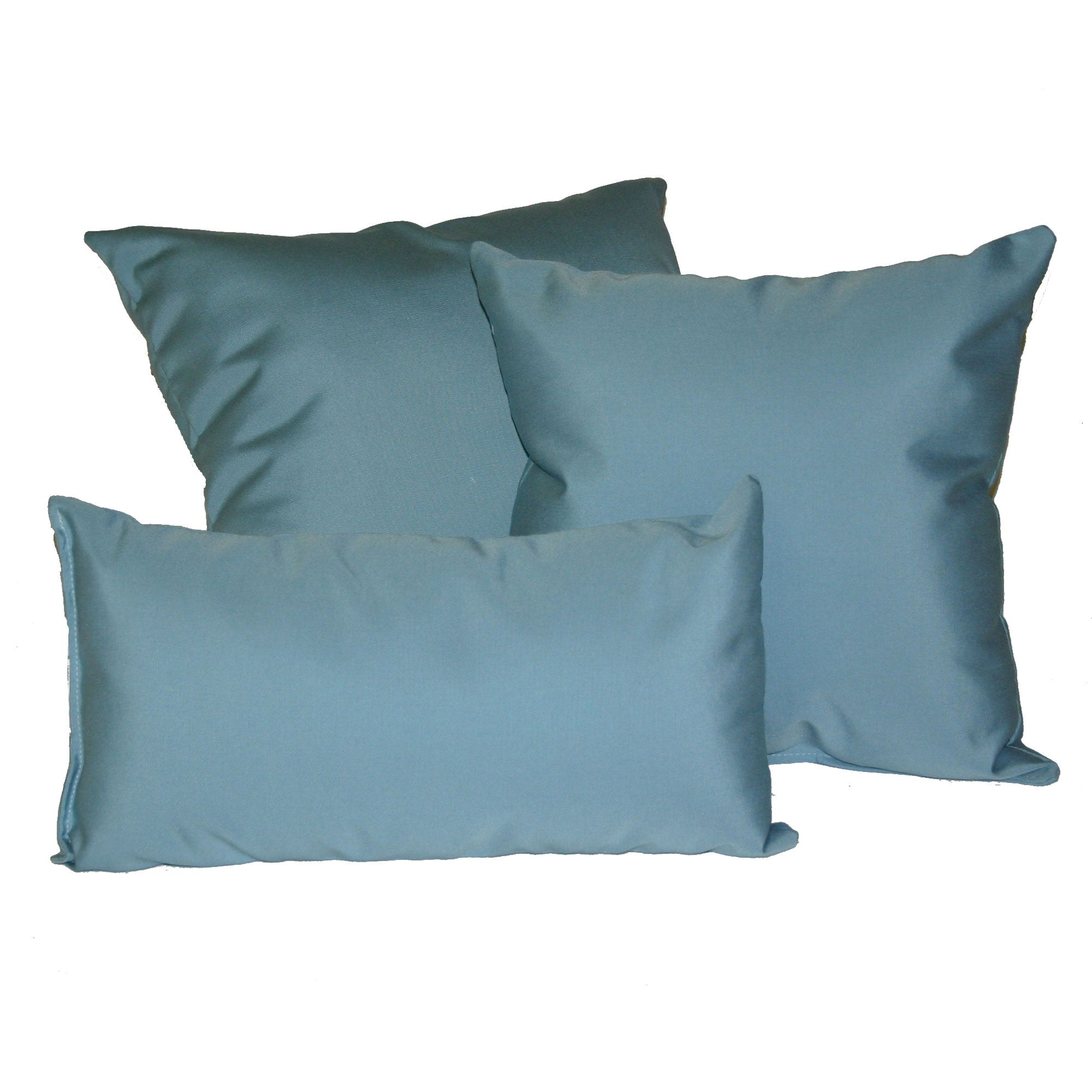 mineral blue sunbrella outdoor throw pillow - Sunbrella Pillows