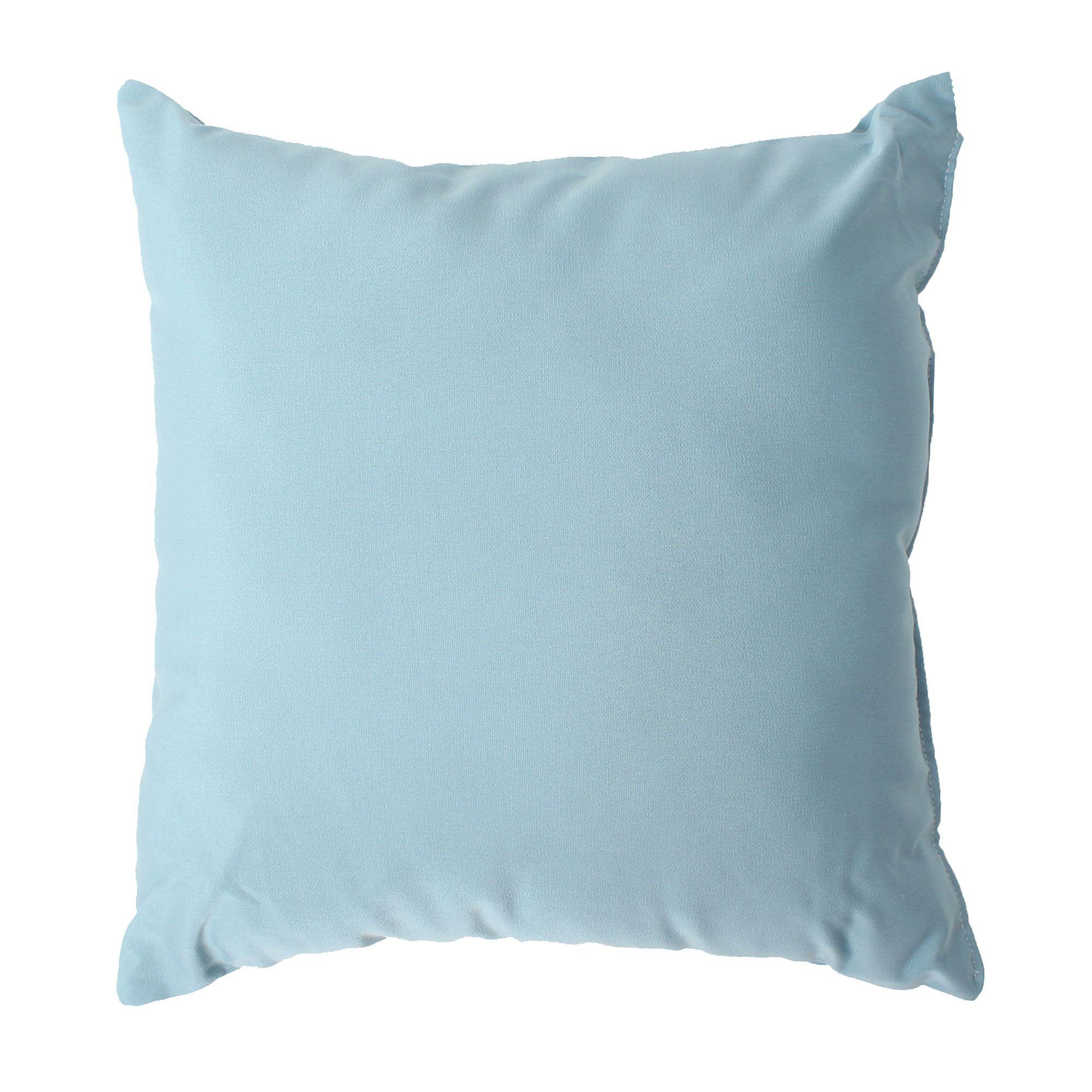 Mineral Blue Sunbrella Outdoor Throw Pillow