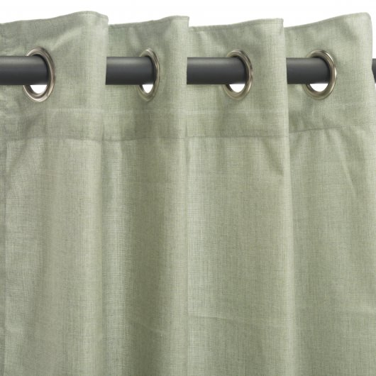 Sunbrella Cast Oasis Outdoor Curtain with Nickel Plated Grommets