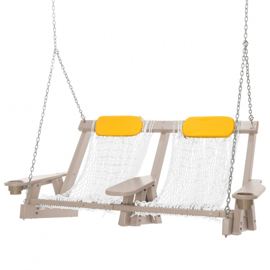 Coastal Weatherwood Double Rope Swing