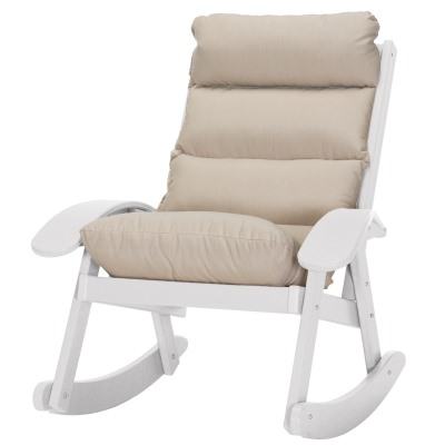 Coastal White Cushion Rocker