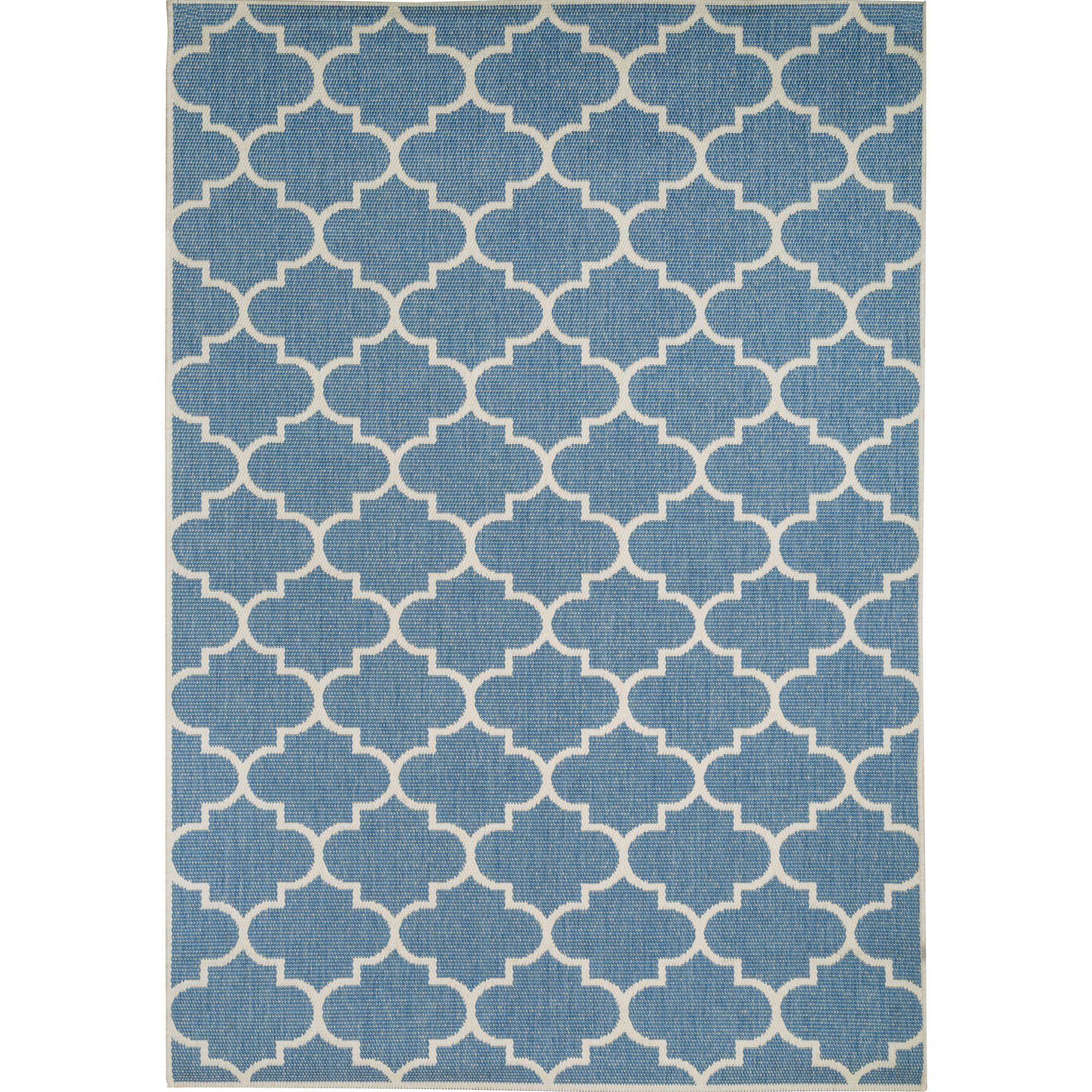 Blue and Champagne Seashells Outdoor Rugs on Sale