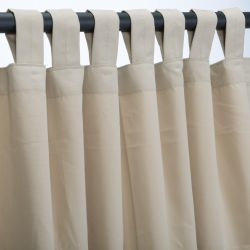 Antique Beige Sunbrella Outdoor Curtain with Tabs