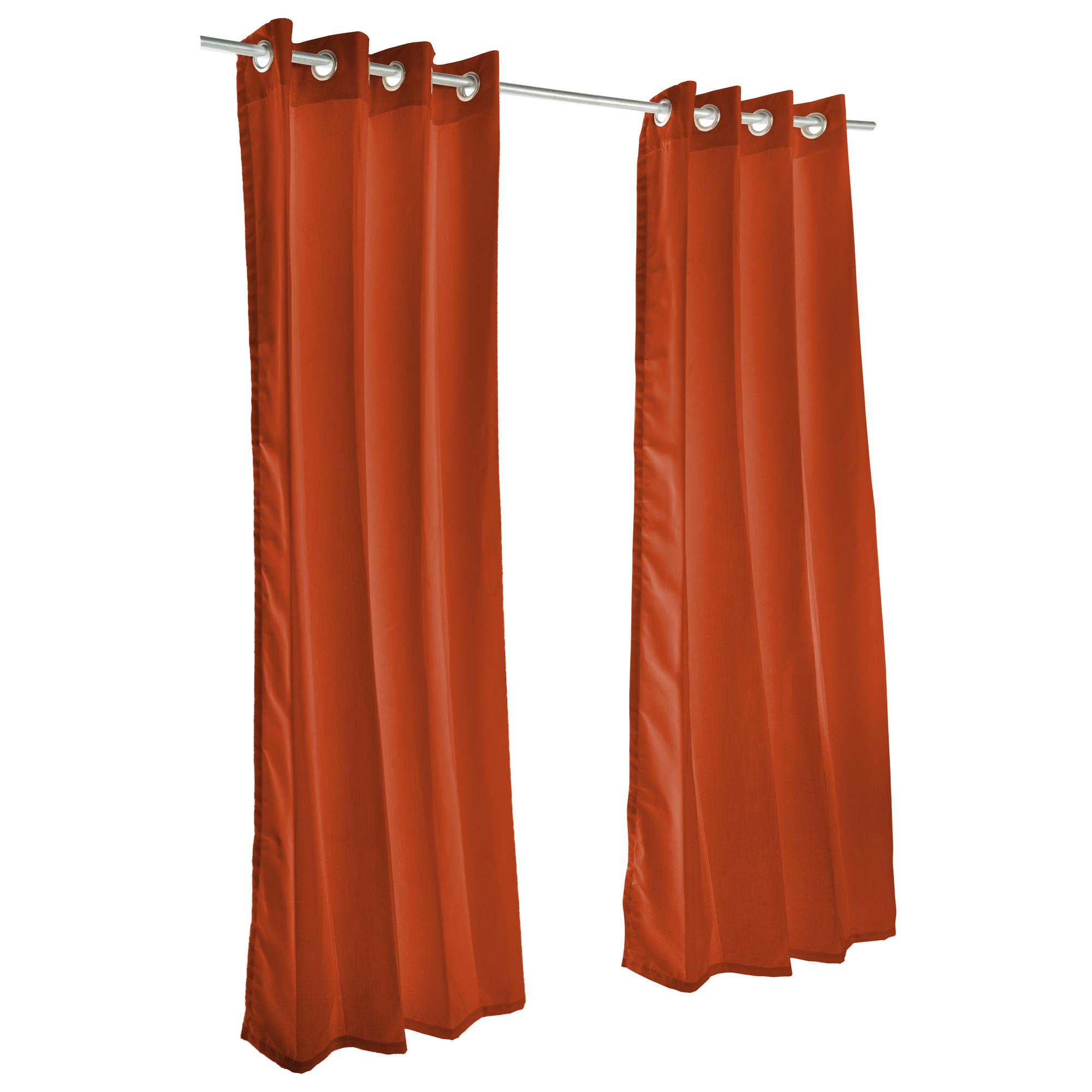 Canvas Brick Grommet Sunbrella Outdoor Curtains