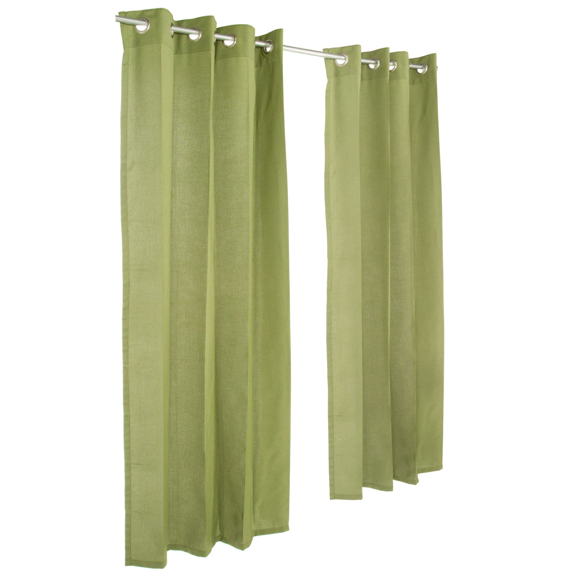 Spectrum Cilantro Grommeted Sunbrella Outdoor Curtains