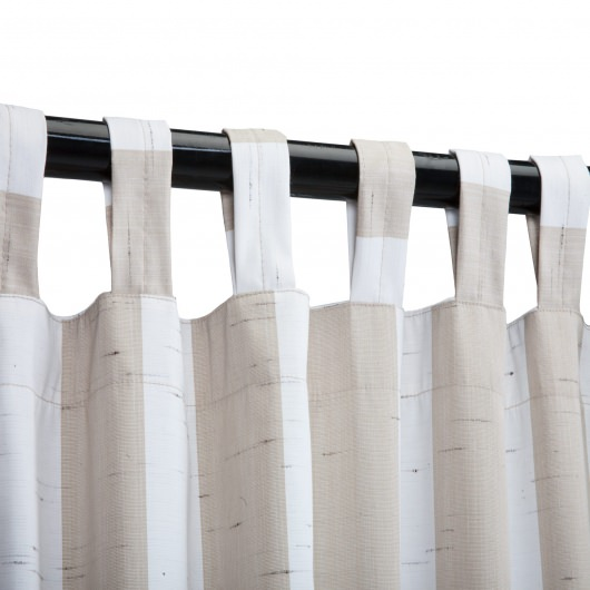 Sunbrella Outdoor Curtain with Tabs - Decade Sand