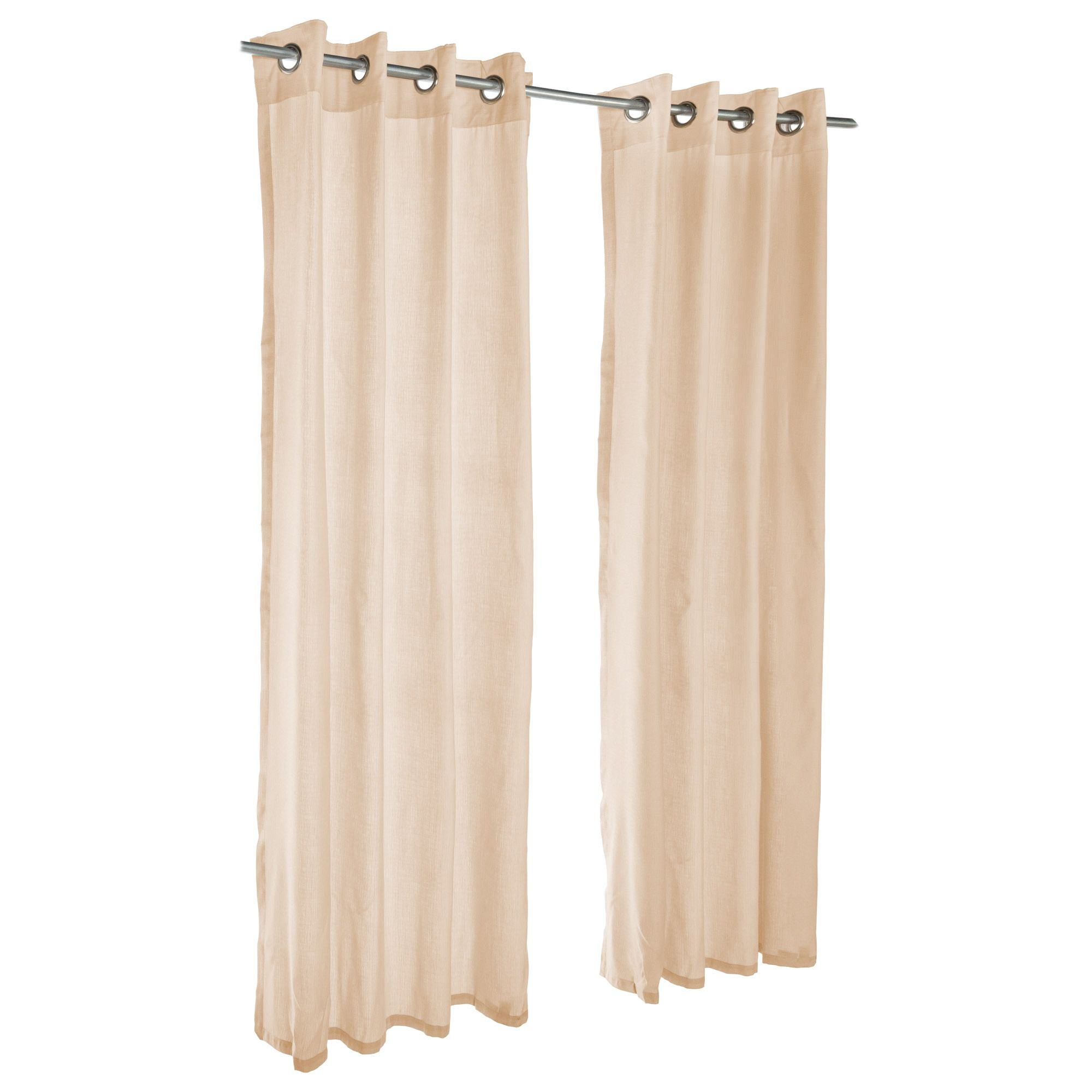 Sheer Honey Grommet Sunbrella Outdoor Curtains