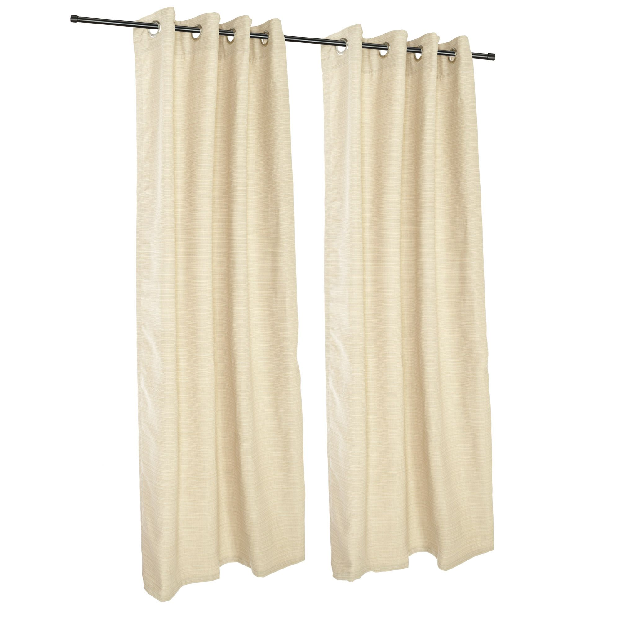 Sunbrella Dupione Pearl Grommeted Outdoor Curtains