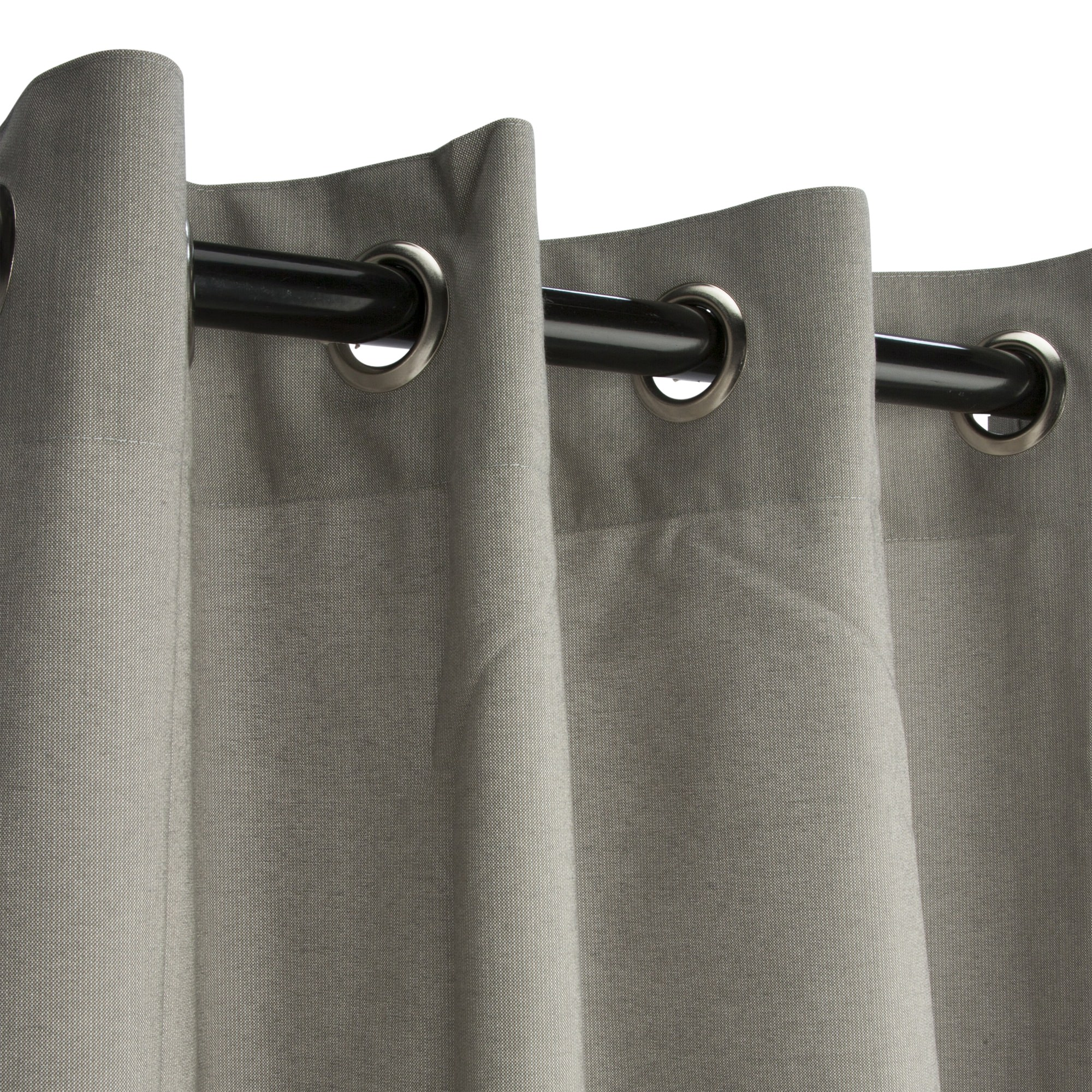 Sunbrella Spectrum Dove Outdoor Curtain With Grommets
