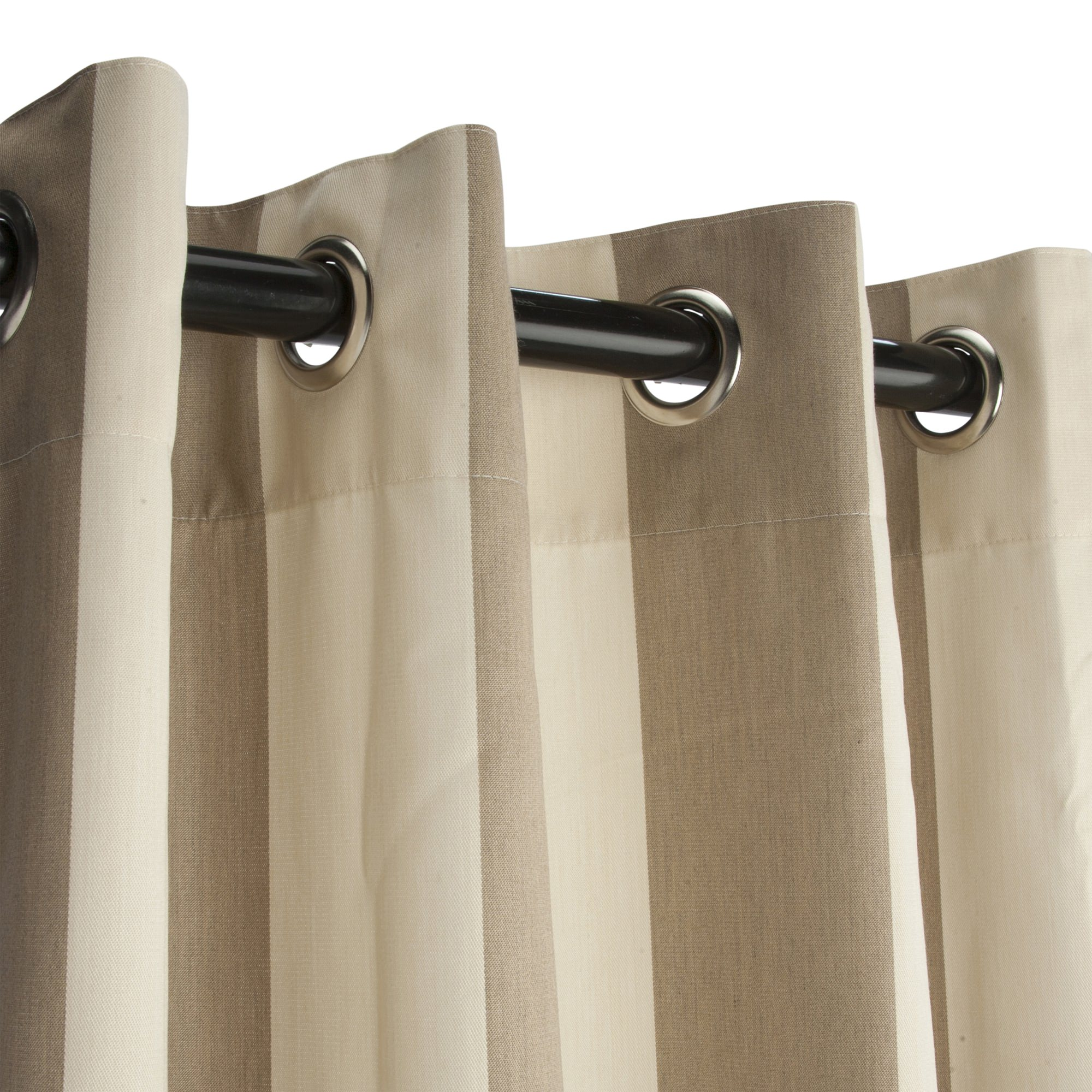 Regency Sand Grommet Sunbrella Outdoor Curtains