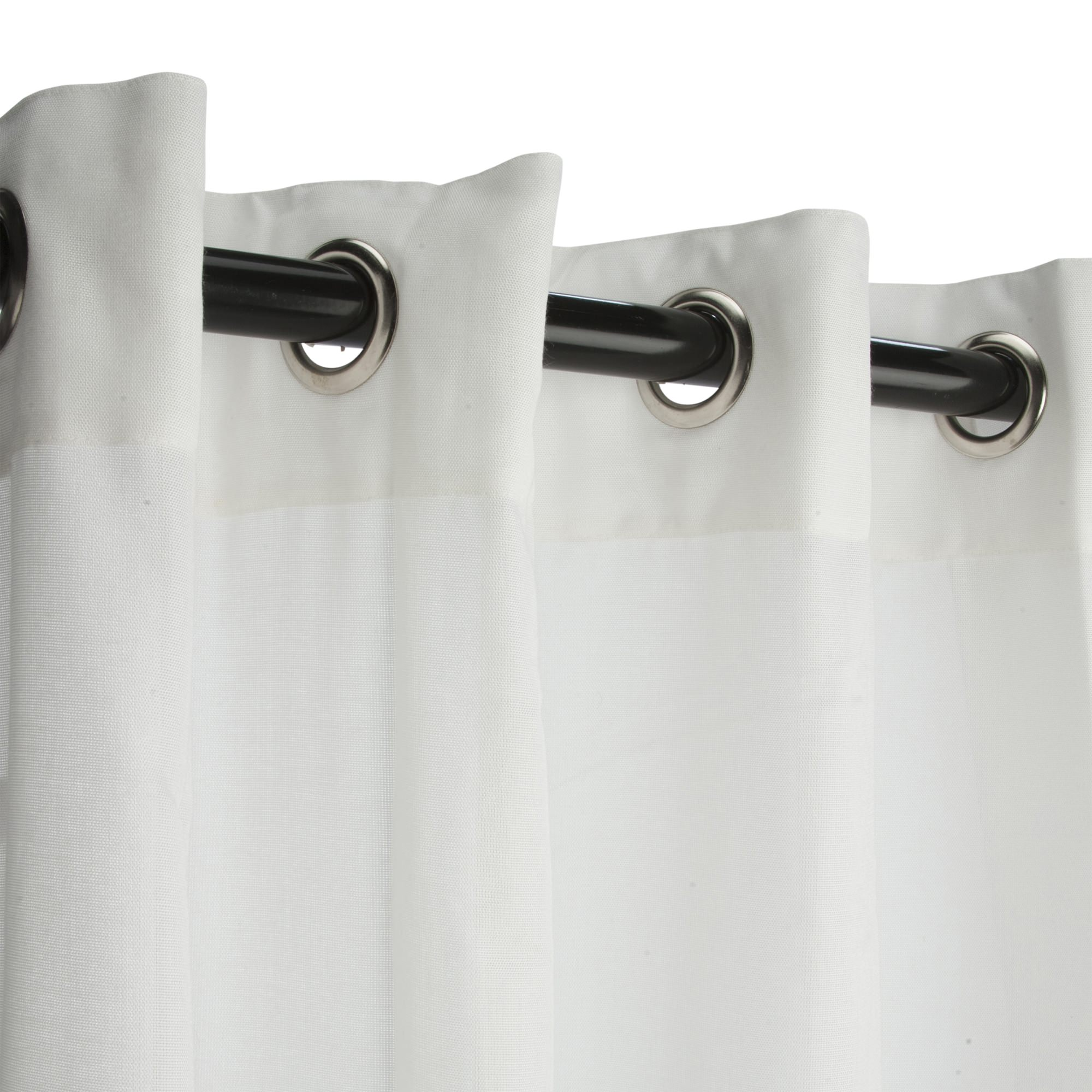 Sunbrella Sheer Snow Outdoor Curtain With Grommets