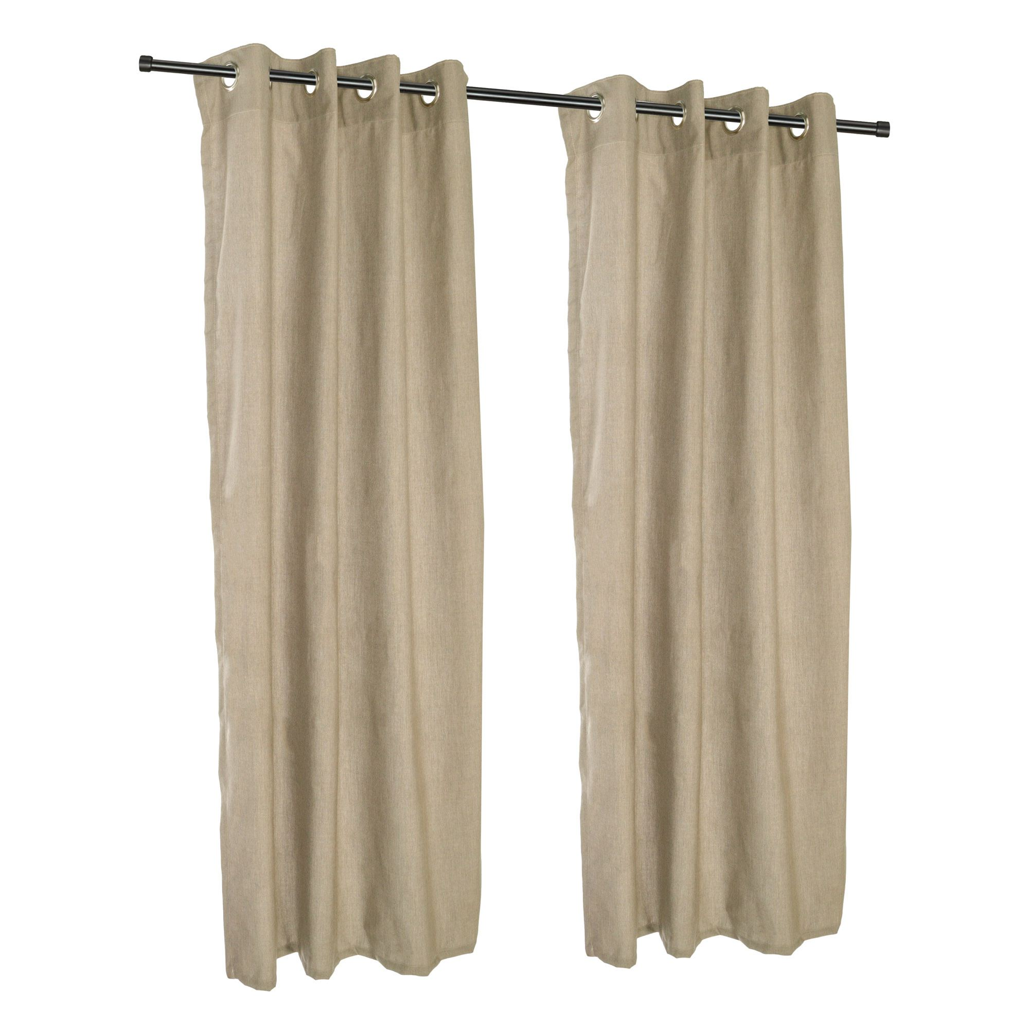 Cast Tinsel Grommet Sunbrella Outdoor Curtains