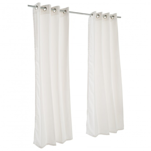 Canvas White Grommet Sunbrella Outdoor Curtains