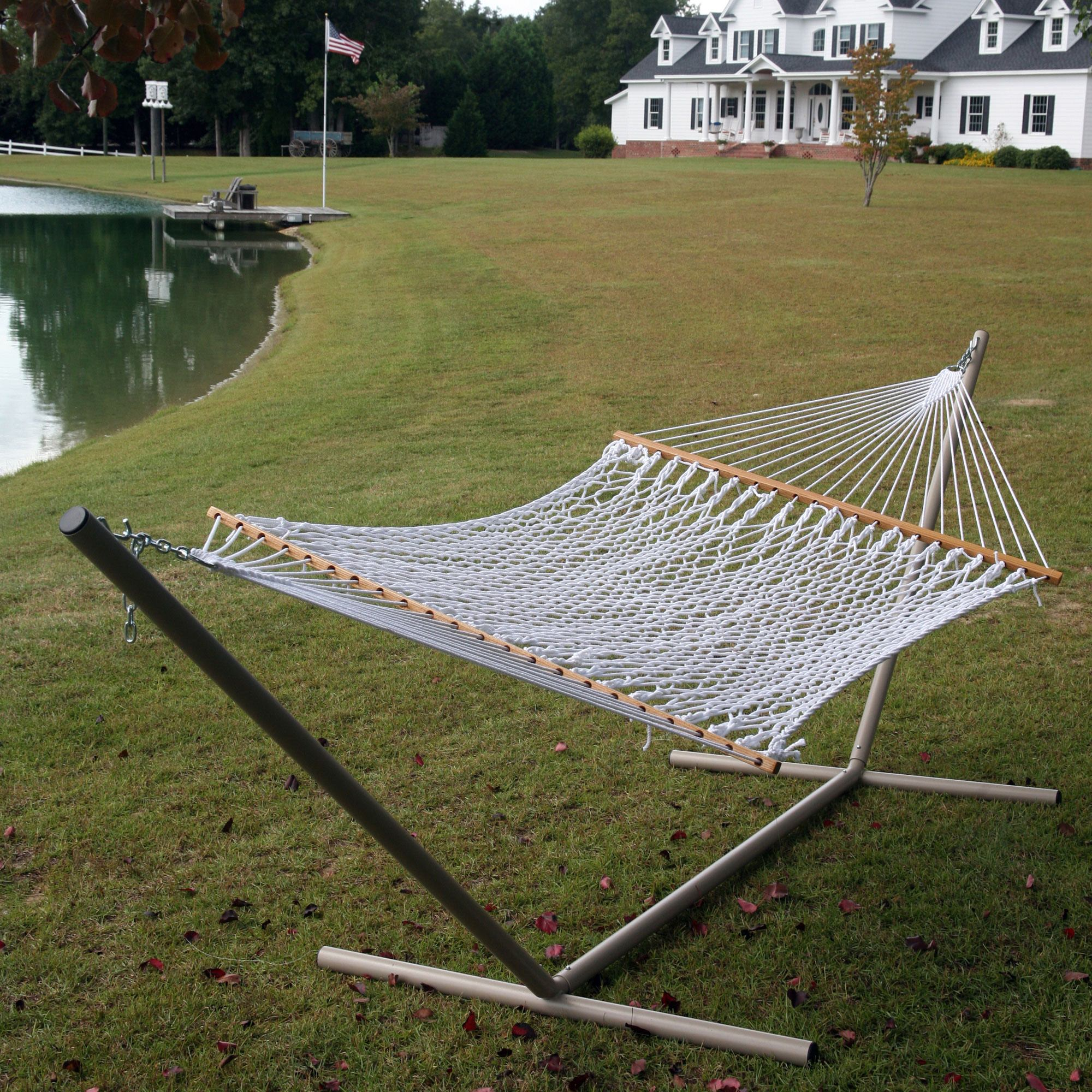 hammocks pawleys ft single rope hammock p white original cotton island