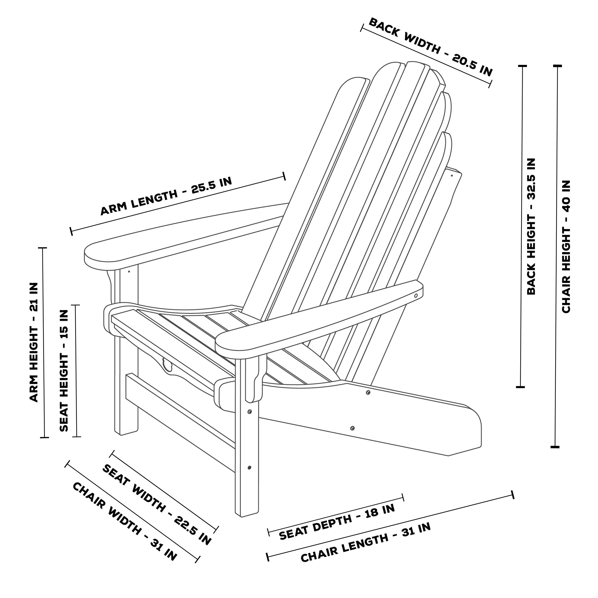 ... Essentials Adirondack Chair ...