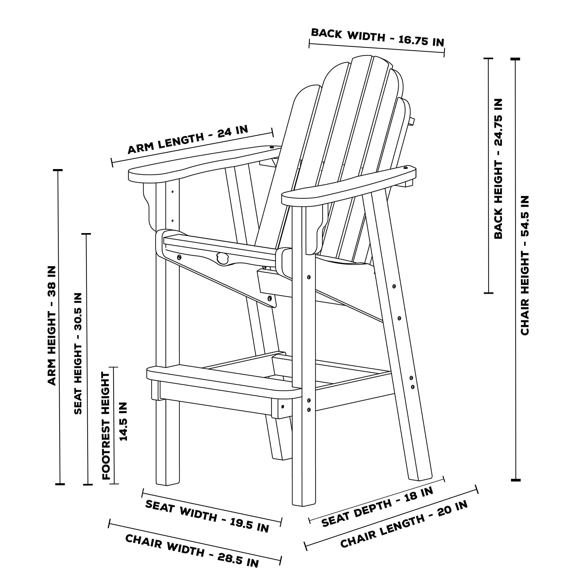 Essentials high dining chair