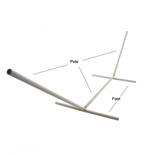 Square Footed Metal Hammock Stand Replacement Poles