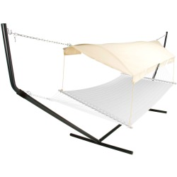 Hammock Canopy - Natural Fabric/Black Poles