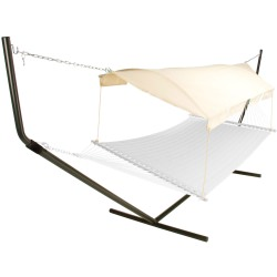 Hammock Canopy - Natural Fabric/Bronze Poles
