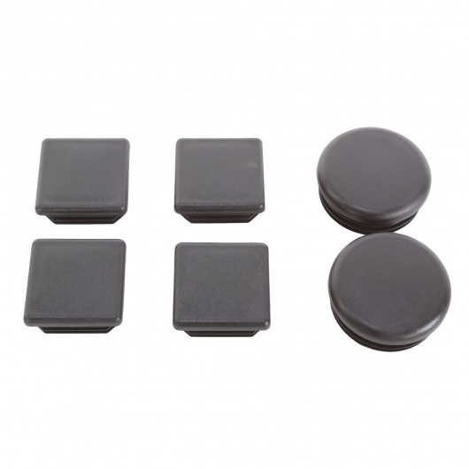 Set of Metal Hammock Stand End Caps - (4) Square and (2) Round