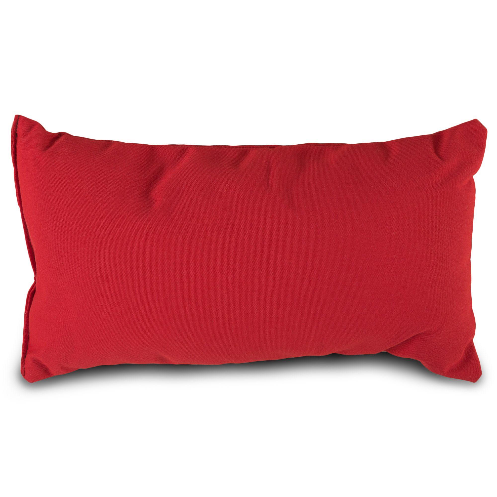 Jockey Red Sunbrella Outdoor Throw Pillow
