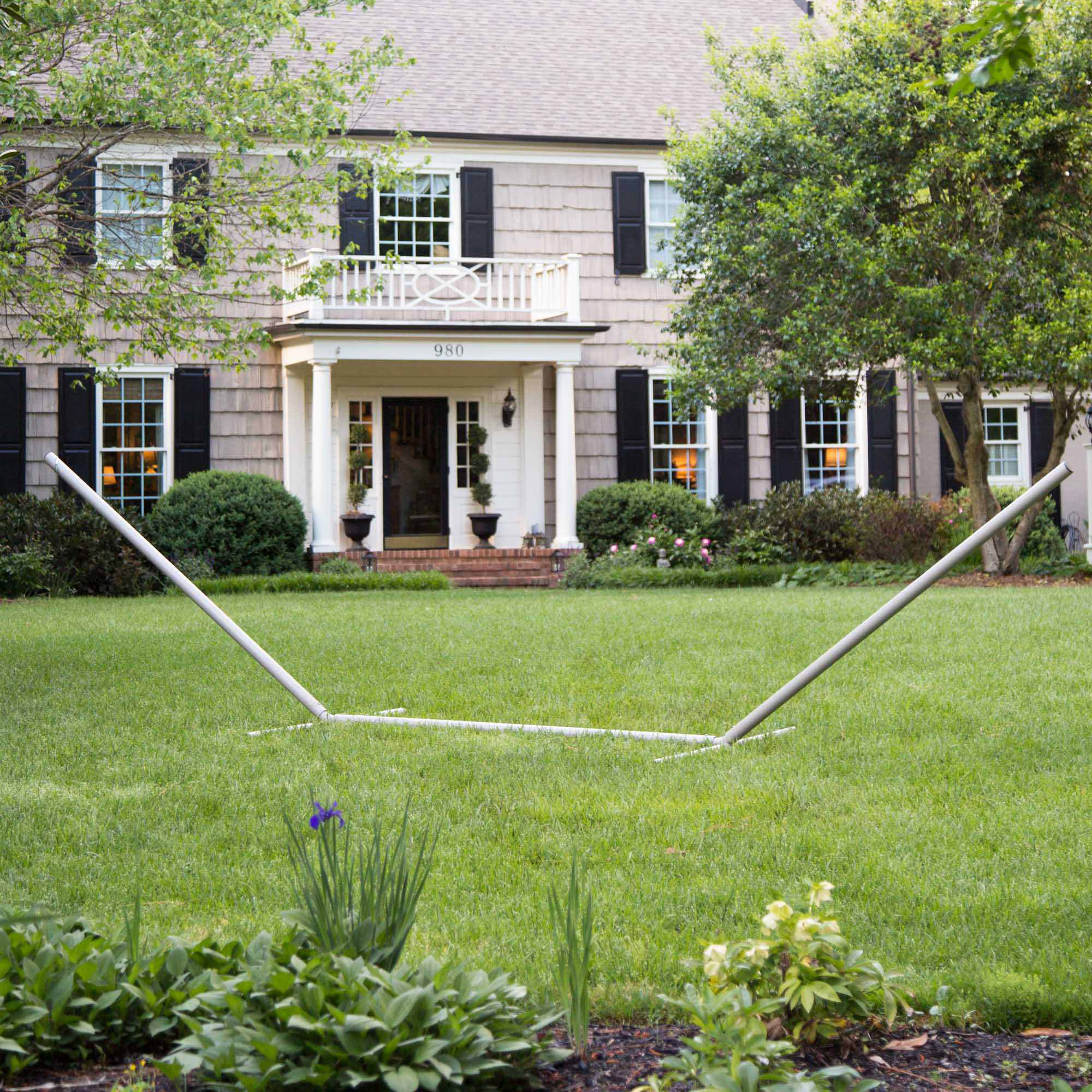 15 fttribeam steel hammock stand with right connection design and cape shield
