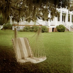Single Cushioned Swing - Regency Sand