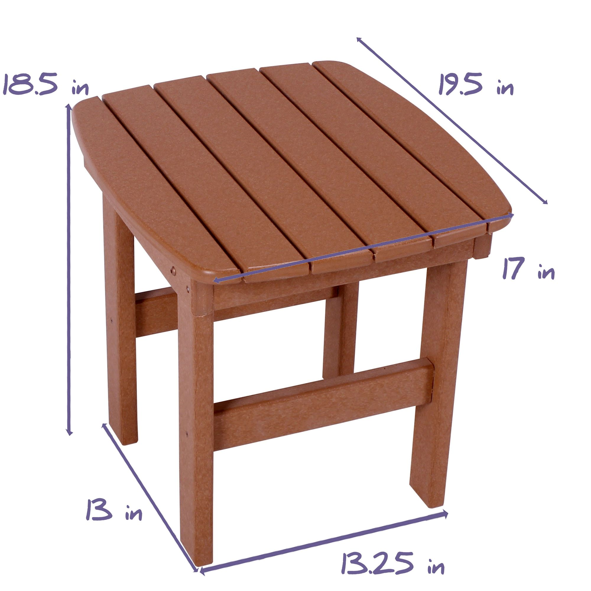 Shop durawood adirondack side tables on sale for Adirondack side table plans