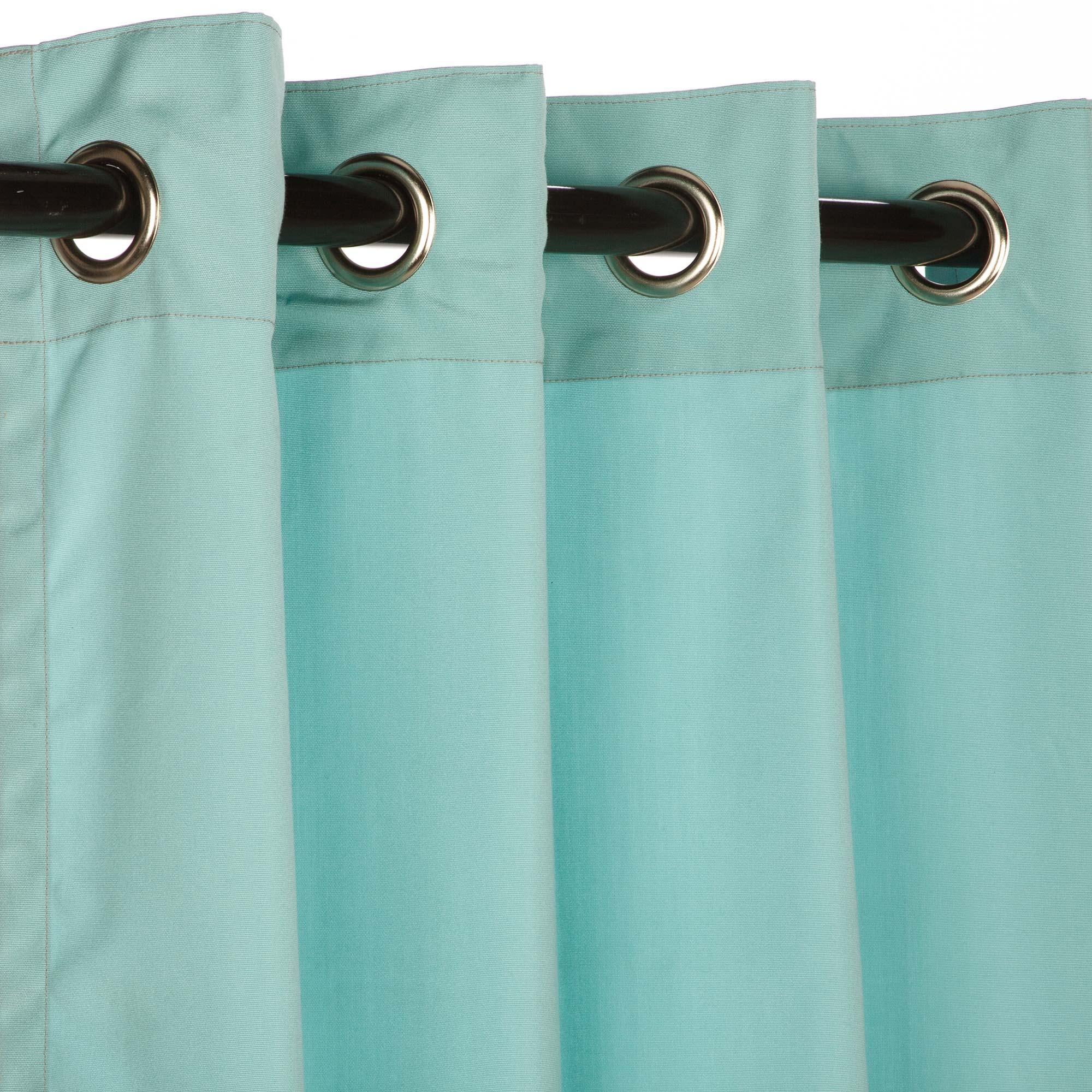 Canvas Glacier Grommet Sunbrella Outdoor Curtains