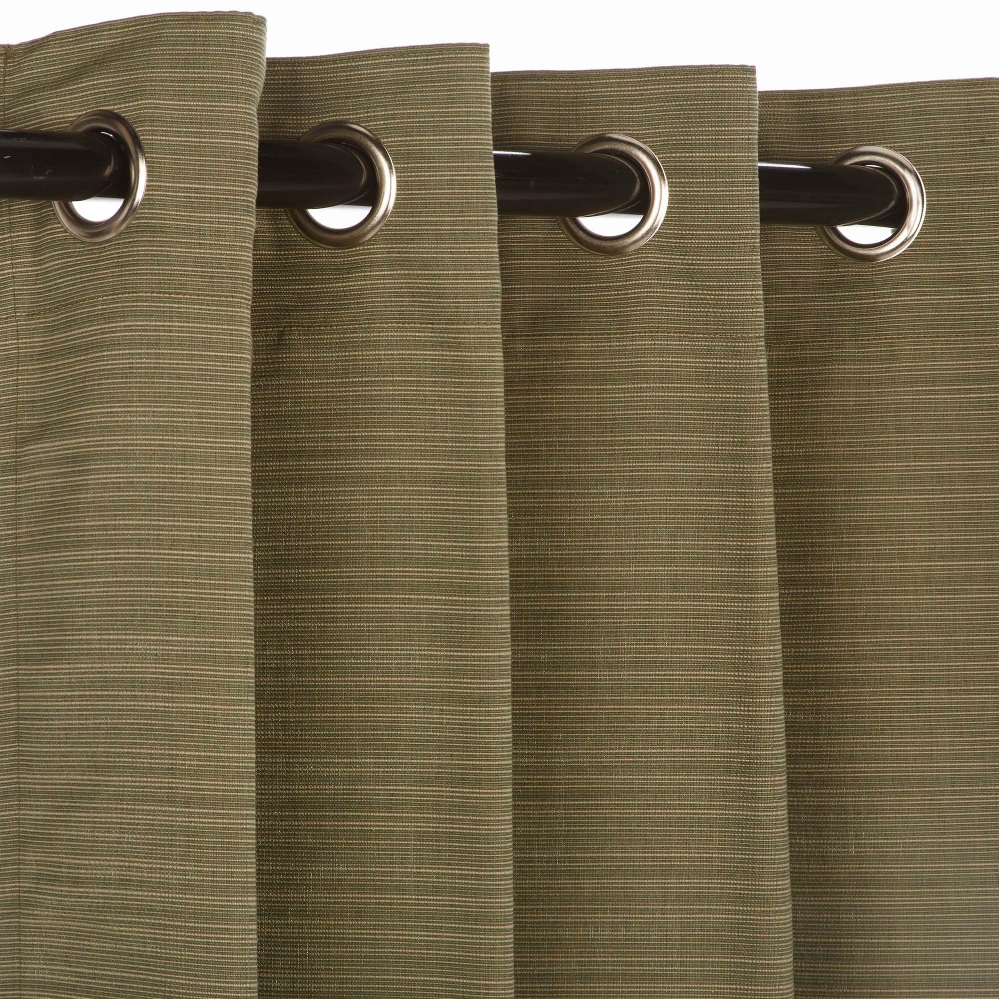 Dupione Laurel Grommet Sunbrella Outdoor Curtains