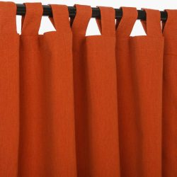 Canvas Brick Sunbrella Outdoor Curtain With Tabs