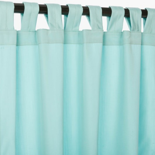 Canvas Glacier Sunbrella Outdoor Curtain With Tabs