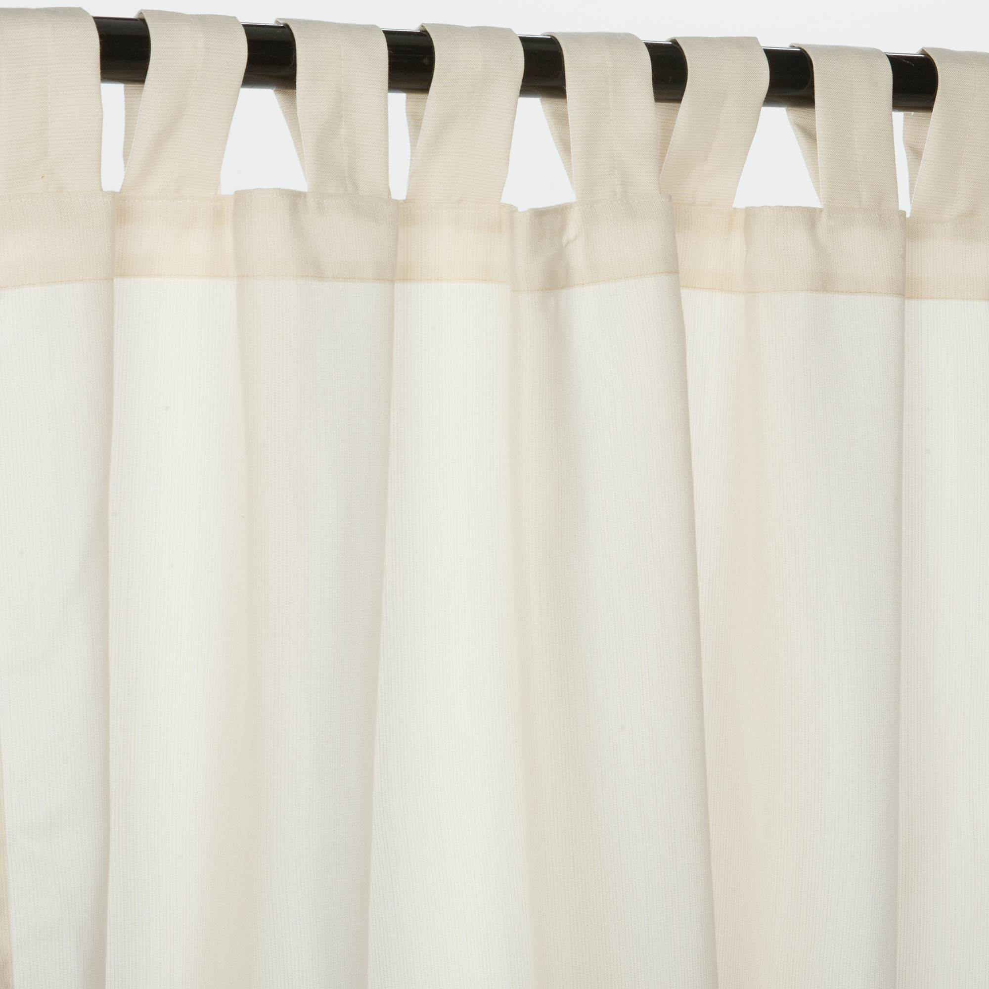 Outdoor curtains - Spectrum Eggshell Sunbrella Outdoor Curtain With Tabs