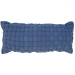Blue Soft Weave Hammock Pillow