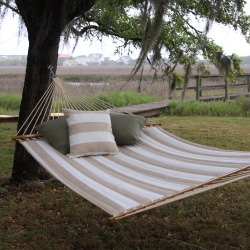 Decade Sand Large Quilted Fabric Hammock