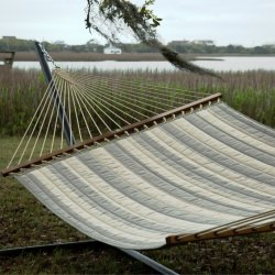 Decade Pewter Large Quilted Fabric Hammock