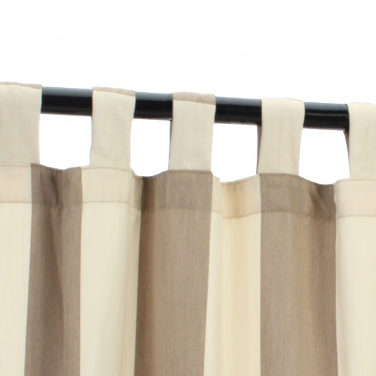 Regency Sand Outdoor Curtain with Tabs