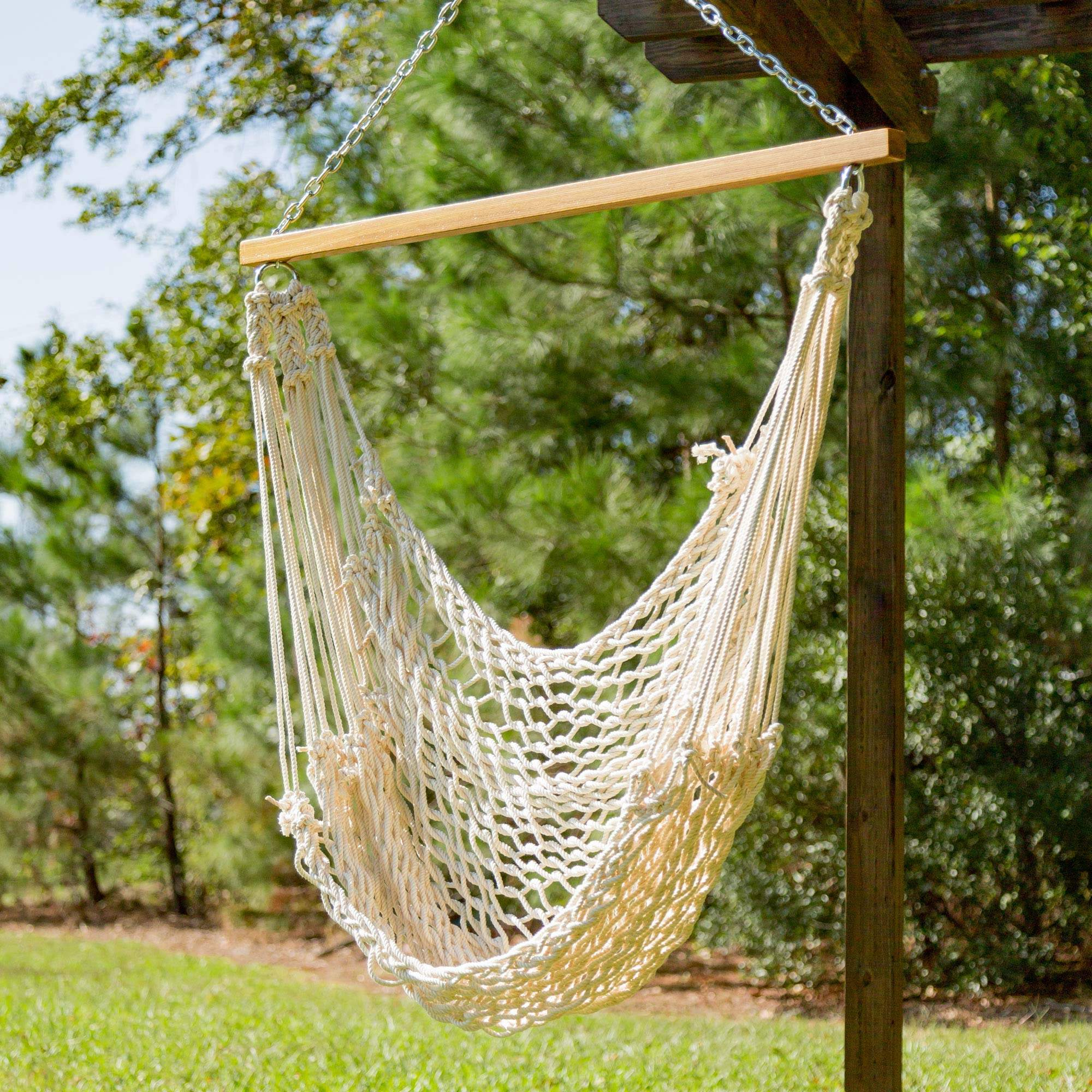 dp set garden hammock stand with com and cotton outdoor rope combo amazon