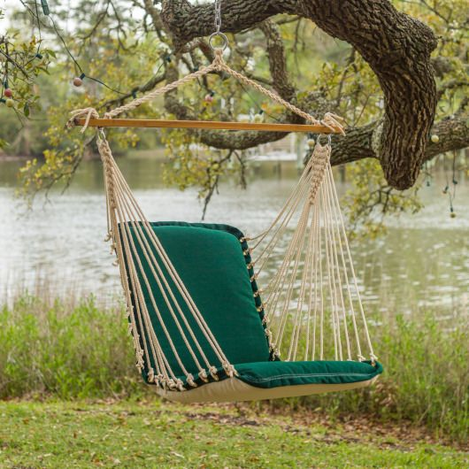 Cushioned Single Swing - Canvas Forest Green