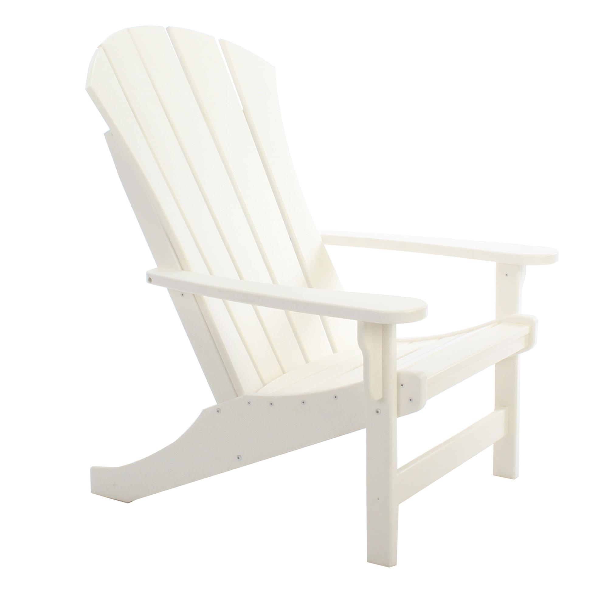Merveilleux ... Sunrise White Durawood Adirondack Chair ...