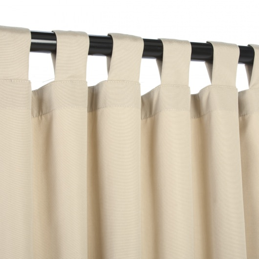 Sunbrella Canvas Antique Beige Outdoor Curtain With Tabs
