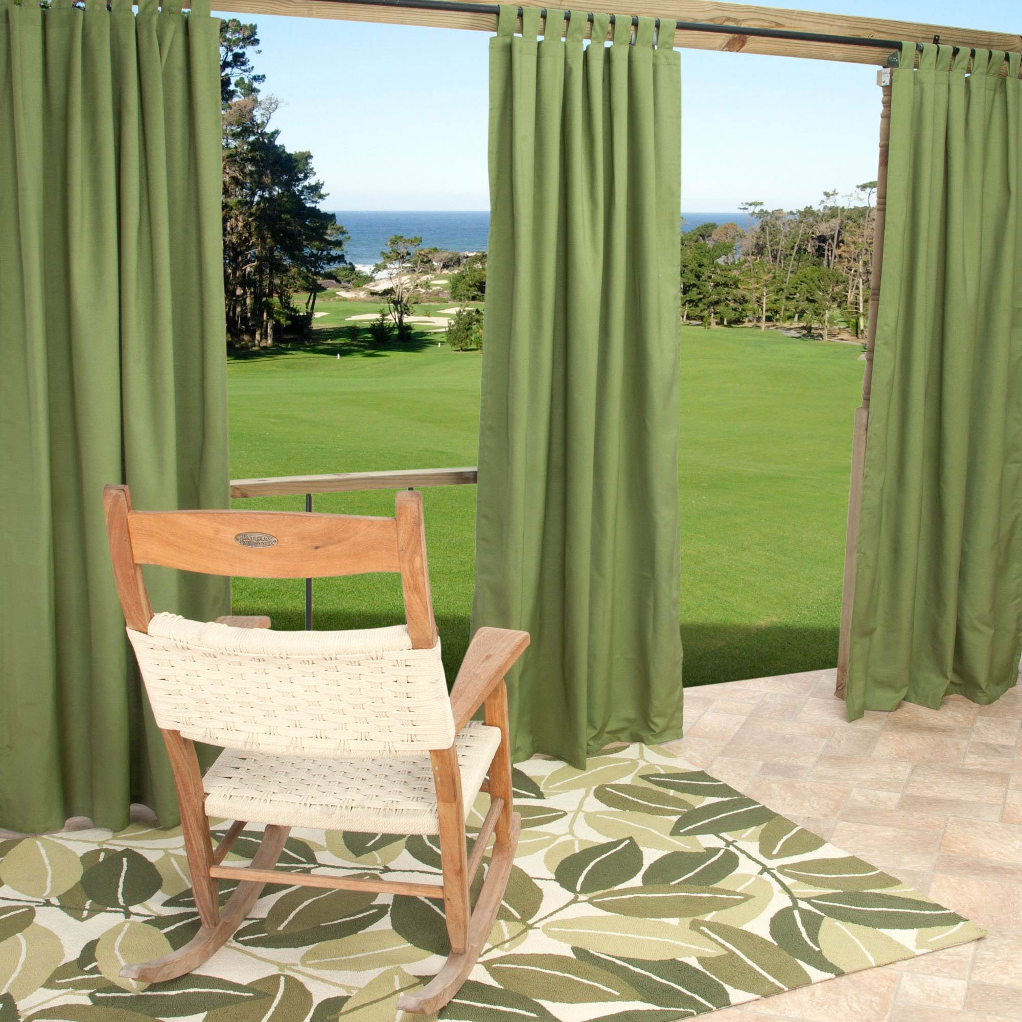 Sunbrella Spectrum Cilantro Outdoor Curtain With Tabs 50 In X 108