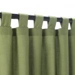 Sunbrella Spectrum Cilantro Outdoor Curtain With Tabs 50